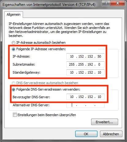 Windows mit Whonix verbinden: Einstellungen Teil 2