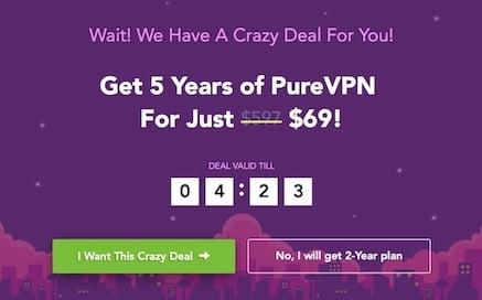 Sicher dir jetzt das top Angebot von PureVPN!