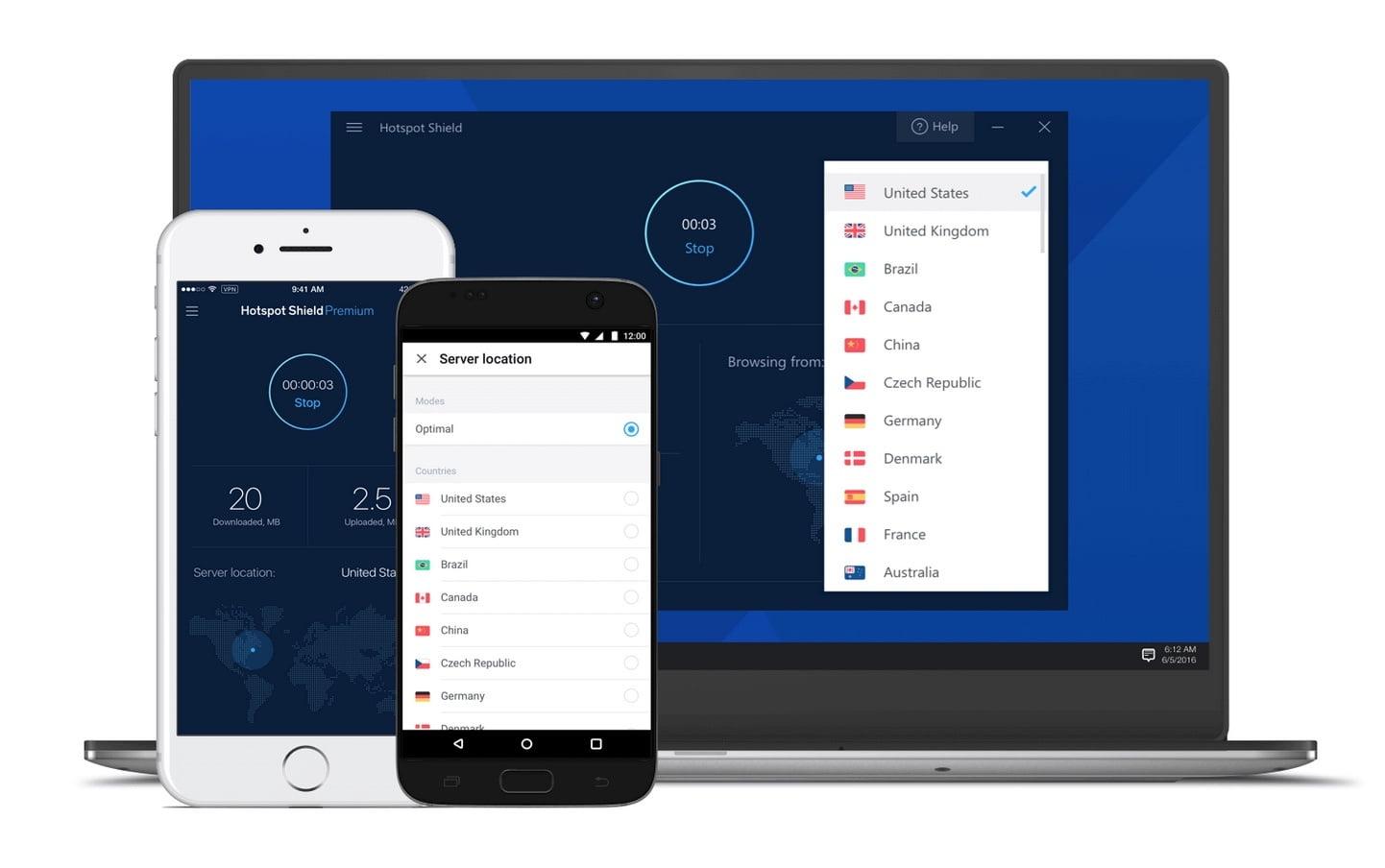 Wenig überzeugend: das kostenlose VPN von Hotspot Shield