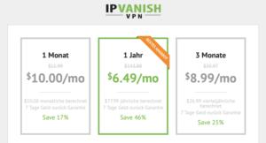 Günstige VPN Zugänge - jetzt 46 % Rabatt bei IPVanish sichern!