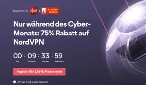 NordVPN bietet günstige VPN Preise im Cyber Month!