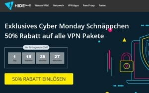 Hier kannst du dir bei hide.me ein günstiges VPN zum halben Preis sichern!