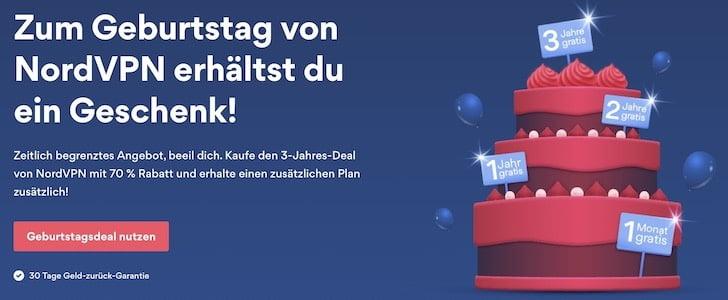 """Zum Geburtstag gibt NordVPN Rabatt auf alle VPN-Zugänge"""""""